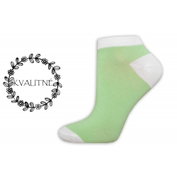 Iba 38-41. Jednofarebné jablkové krátke ponožky