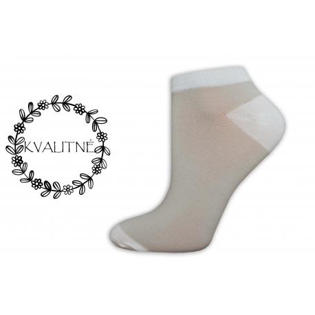 Kvalitné dámske bavlnené bledé členkové ponožky