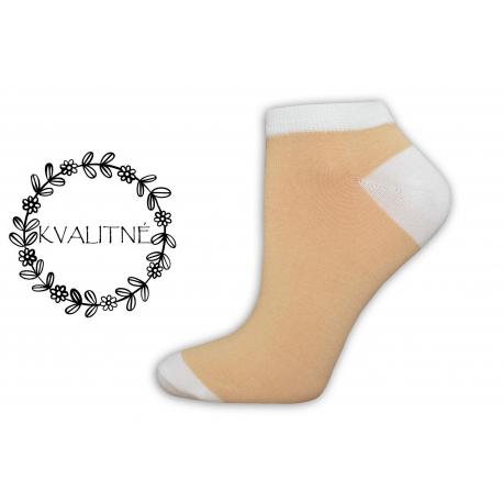 Kvalitné dámske bavlnené členkové ponožky