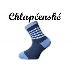 Detské pásikavé modré  ponožky