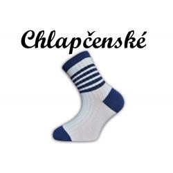 Detské pásikavé bavlnené ponožky