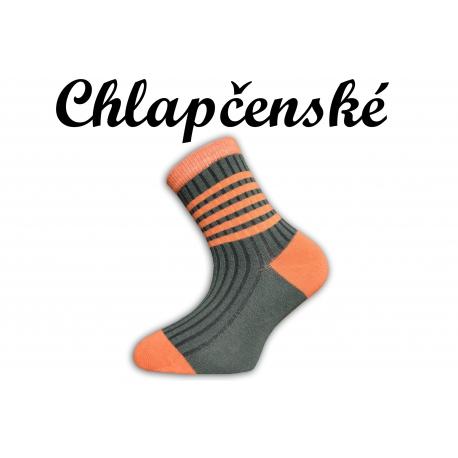 Perfektné detské pásikavé bavlnené ponožky