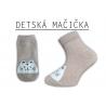 Detské ponožky s mačičkou