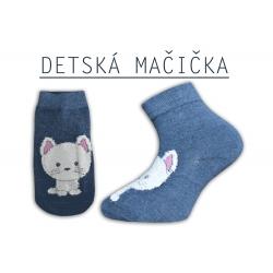 Detské mačičkové ponožky - modré
