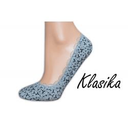 Sivé vzorované balerínkové ponožky