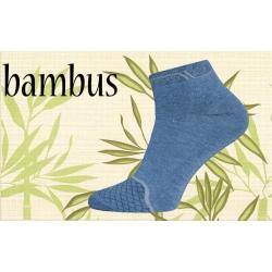 Modré bambusové kotníkové pánske ponožky