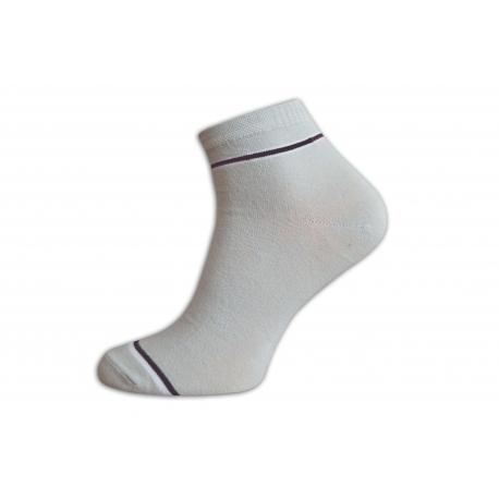 Bledé pánske kotníkové bavlnené ponožky