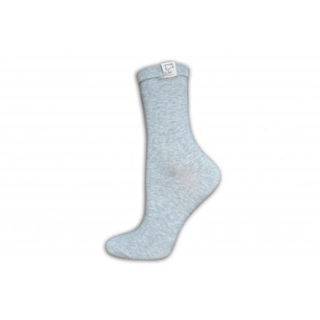 Krásne dámske kvalitné vysoké sivé ponožky
