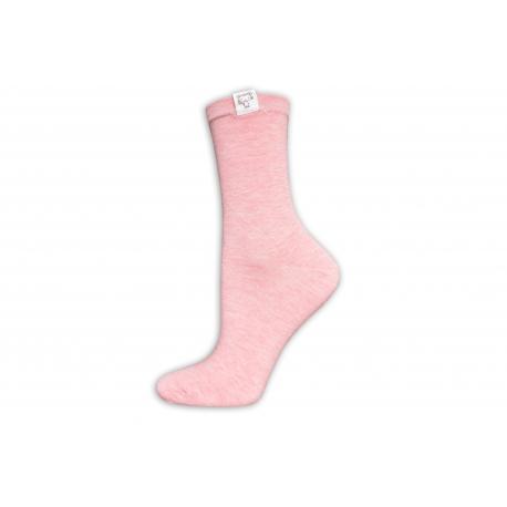 Krásne dámske kvalitné vysoké ružové ponožky