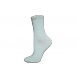Krásne dámske kvalitné vysoké zelené ponožky