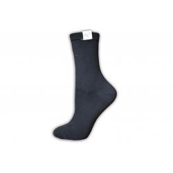 Krásne dámske kvalitné vysoké čierne ponožky