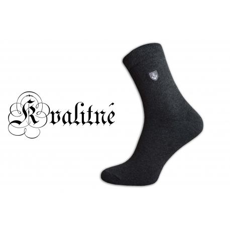 Pánske vysoké kvalitné bavlnené pohodlné šedé ponožky