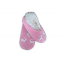 IBA 38-41! Balerínkové ružové dámske papuče s jeleňmi