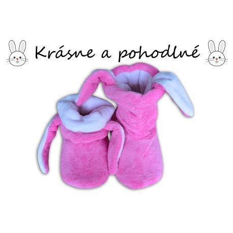 Zajačikové dámske vysoké papuče-fialové