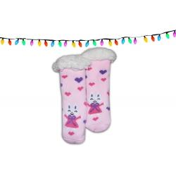 Huňaté detské ponožkové papuče