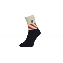 Kvalitné pánske vysoké ponožky s pásikmi