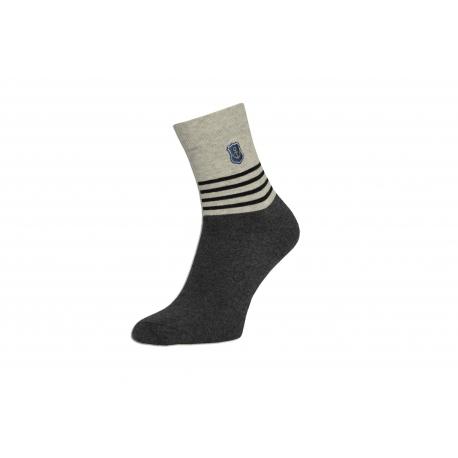 Kvalitné pánske bavlnené ponožky s pásikmi