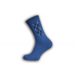 Lacné pánske modré  ponožky