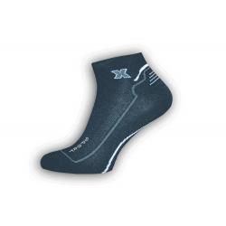 Športové čierne kotníkové pánske ponožky