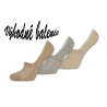 Telové bavlnené neviditeľné ponožky 3balenie