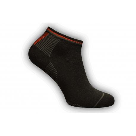 Kvalitné tmavé kotníkové ponožky