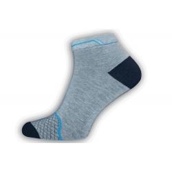 IBA 43-46! Lacné sivé pánske kotníkové ponožky