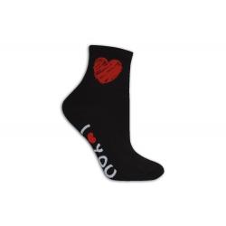 Ľúbim ťa dámske ponožky čierne