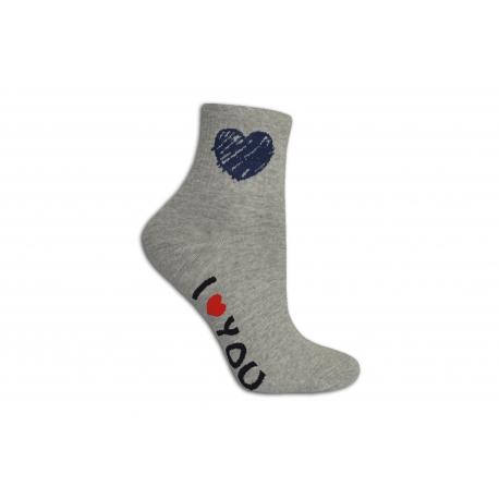 Ľúbim ťa dámske ponožky sivé