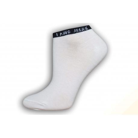 Bledé smotanové členkové dámske ponožky