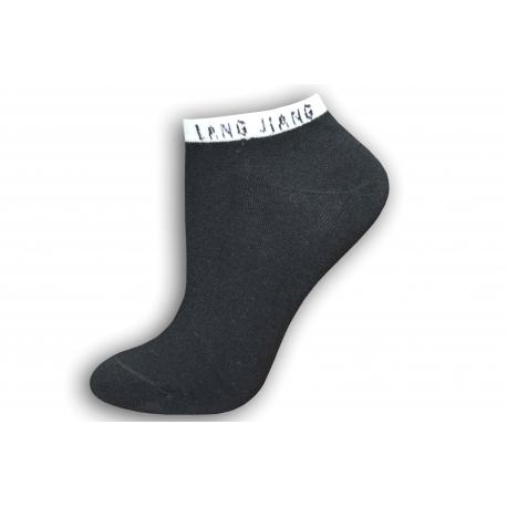 Čierne členkové dámske ponožky