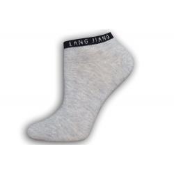 Bledé sivé členkové dámske ponožky