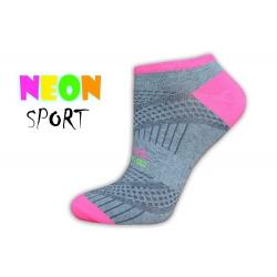 Športové dámske farebné ponožky-sivé