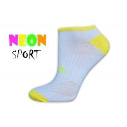 Biele športové dámske ponožky