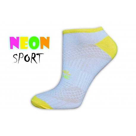 LIVE STYLE-športové dámske ponožky-biele