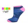 LIVE STYLE-športové dámske ponožky-tm.modré