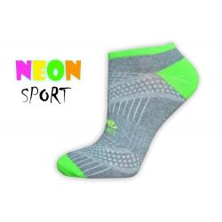 Sivé športové dámske ponožky