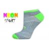 LIVE STYLE-športové dámske ponožky-sivé