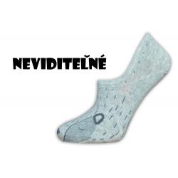 Nespadnú! Neviditeľné obrázkové mini ponožky