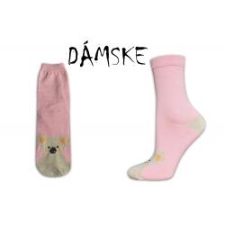 Ružové ponožky s mackom