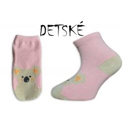 ONO+ONA Mackové detské ružové ponožky
