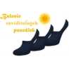 Výhodné 3-balenie neviditeľných pánskych ponožiek
