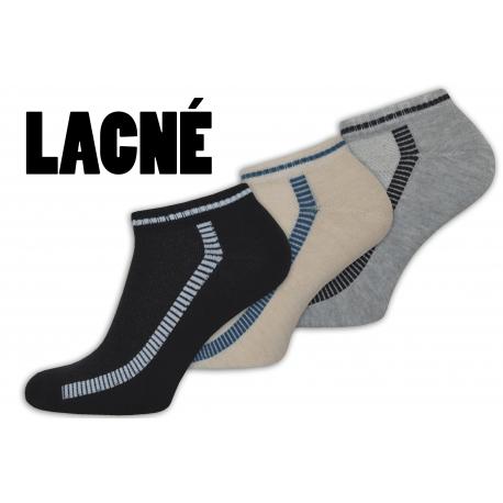Lacné kotníkové pánske ponožky 3-páry