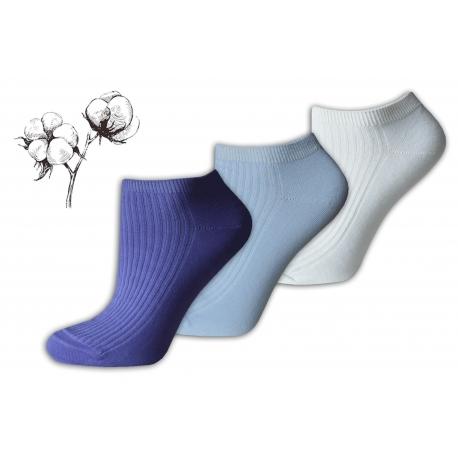 Super zdravotné bavlnené dámske ponožky 3-páry e7ae87ed78