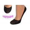 Balerínkové vzorované ponožky - petrolejové