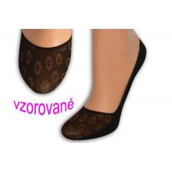 Balerínkové vzorované ponožky - hnedé
