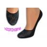 Balerínkové vzorované ponožky - modré
