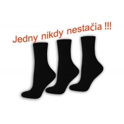 Čierne dámske ponožky 3 -páry