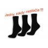 3 -páry kvalitných bavlnených čiernych ponožiek