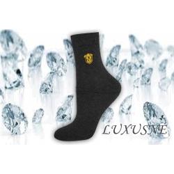 Ani dieťa ani muž. Luxusné bavlnené ponožky-antracit