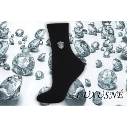 Luxusné čierne ponožky